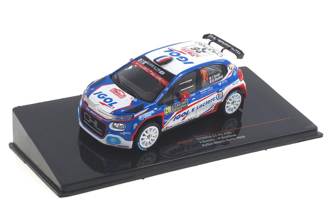 Citroen C3 R5 Rallye Monte Carlo 2020 Bonato/Boulloud IXO 1:43 RAM748