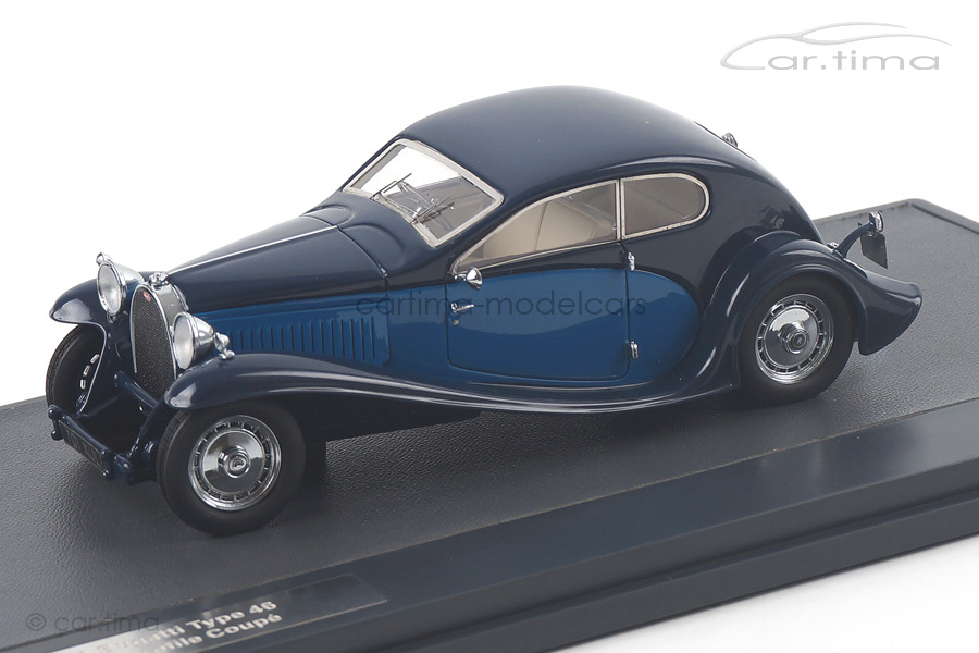 Bugatti Type 46 Superprofile Coupe 1930 blau Matrix Scale Models 1:43 MX40205-012