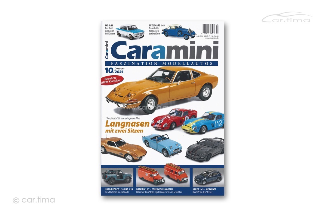 Zeitschrift / Magazine caramini Faszination Modellautos 10/2021 Expromo Verlag