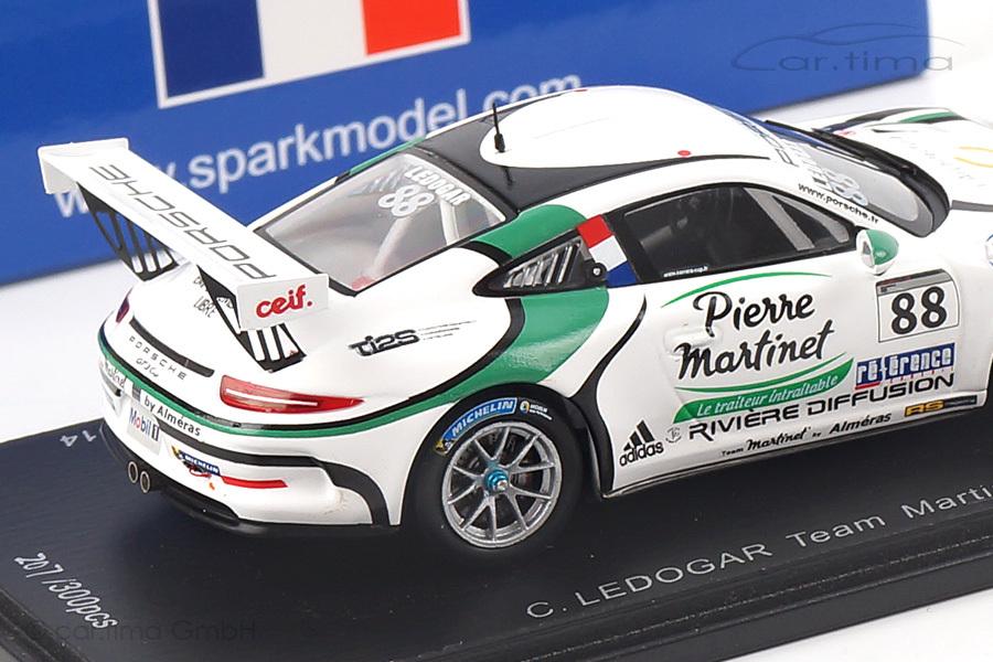 Porsche 911 (991) GT3 Cup Champion Carrera Cup France Ledogar Spark 1:43 SF084