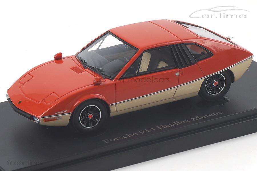 Porsche 914/6 Heuliez Murene 1970 orange/weiß autocult 1:43 06012