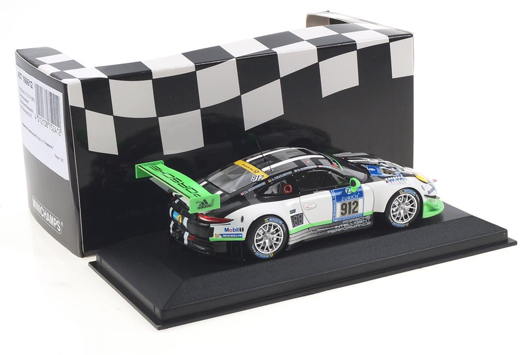 Porsche 911 GT3 R 24h Nürburgring 2016 Bergmeister/Lietz/Makowiecki Minichamps 1:43 437166612